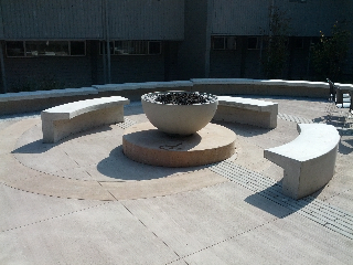 Hemi firebowl at TWU courtyard