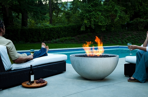 Relaxing fire pit