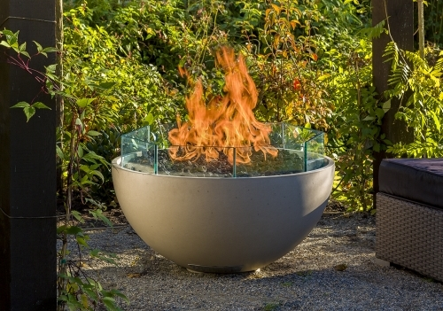 Hemi 36 Linen Flame w glass