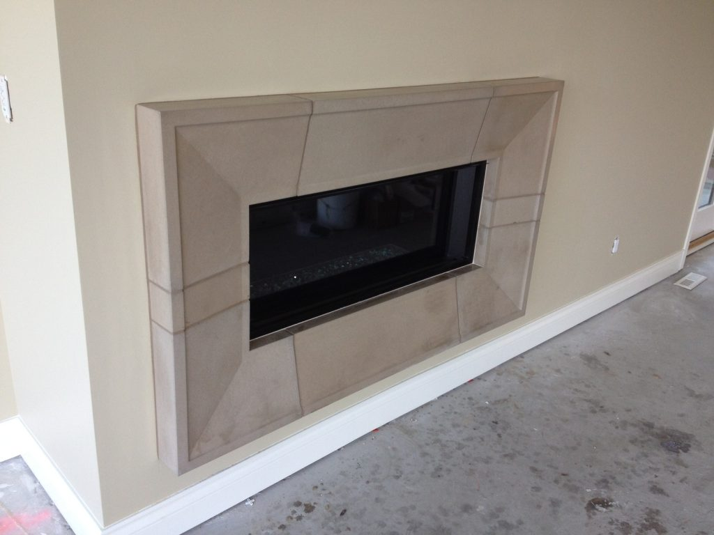 Taper fireplace surround