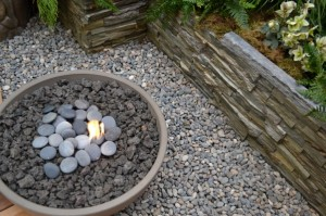Refractory stone with lava