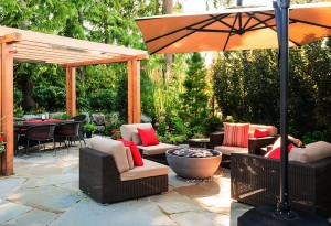 Solus Hemi 36 Firebowl Photo credit: Houston Landscaping