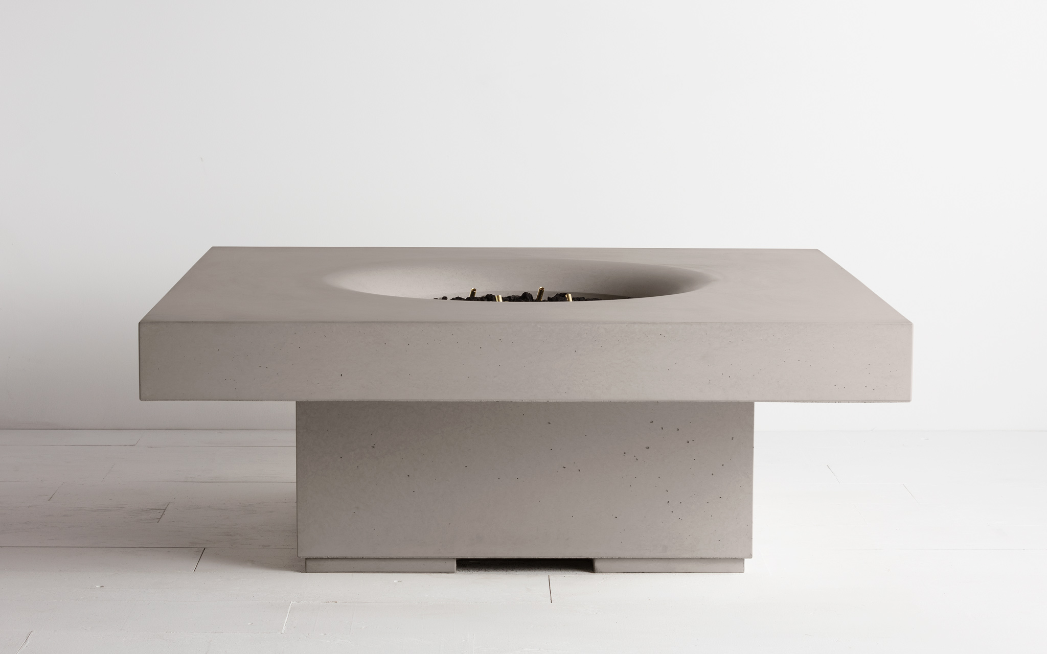 levated Halo fire table in Portland